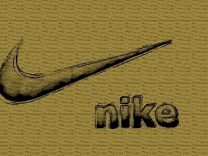 logo, Brown, background, Nike