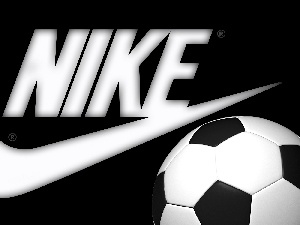 Nike, Ball, background, logo, Black